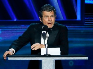 """In this April 18, 2013 file photo, """"Rolling Stone"""" magazine editor and publisher, Jann Wenner, speaks during the Rock and Roll Hall of Fame Induction Ceremony in Los Angeles. On Friday, Oct. 28, 2016, jurors viewed Wenner's video deposition where he says that he disagreed with a top editor's decision to retract an entire article about a gang rape at a University of Virginia fraternity after the story was discredited. University dean Nicole Eramo filed a defamation lawsuit against the magazine over the article. She says it portrayed her as the """"chief villain"""" in the 2014 story. (Photo by Danny Moloshok/Invision/AP, File)"""