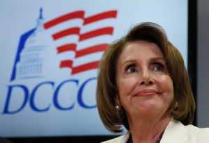 House Minority Leader Nancy Pelosi of Calif. pauses during an election day news conference at the Democratic Congressional Campaign Committee Headquarters in Washington, Tuesday, Nov. 8, 2016. (AP Photo/Carolyn Kaster)
