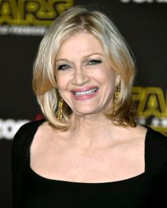 """FILE - In this Dec. 14, 2015 file photo, Diane Sawyer arrives at the world premiere of """"Star Wars: The Force Awakens"""" in Los Angeles. Sawyer, the former """"World News Tonight"""" anchor, was announced last week as part of ABC News' elections coverage. Sawyer was backstage at ABC's Times Square studio Tuesday but never made it on the air. ABC's plan was for Sawyer to appear after the race had been called to offer historical perspective, but as it got later in the evening and a winner hadn't been declared, she left, spokeswoman Julie Townsend said. (Photo by Jordan Strauss/Invision/AP, File)"""