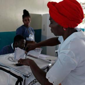 Haiti's presidential redo goes well; long vote count begins
