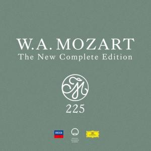 "This CD cover image released by Decca and Deutsche Grammophon shows, ""Mozart 225: The New Complete Edition,"" a new box set with 200 CDs that contain every note composed by Wolfgang Amadeus Mozart. (Decca and Deutsche Grammophon via AP)"