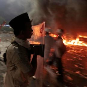 Police say 1 dead, 7 injured in Indonesia clashes
