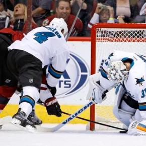Domingue has 39 saves in Coyotes' 3-2 win over Sharks