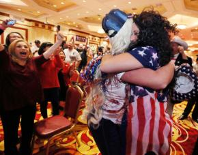 Shock, joy and fear as voters elect Donald Trumppresident