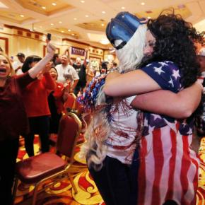Shock, joy and fear as voters elect Donald Trump president
