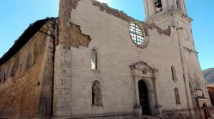 The Cathedral of Santa Maria Argentea is destroyed in Norcia, Italy, after an earthquake with a preliminary magnitude of 6.6 struck central Italy, Sunday, Oct. 30, 2016. Central Italy was hit by another powerful earthquake Sunday, toppling buildings that had recently withstood other major quakes and sending panicked residents back into the streets, but causing no immediate loss of life. (Matteo Guidelli/ANSA via AP)