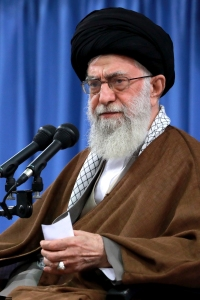 "In this photo released by an official website of the office of the Iranian supreme leader, Supreme Leader Ayatollah Ali Khamenei speaks in a meeting with a group of students in Tehran, Iran, Wednesday, Nov. 2, 2016. It seems everyone has an opinion about the U.S. presidential election, including Iran's supreme leader. Ayatollah Ali Khamenei criticized both Democratic candidate Hillary Clinton and Republican Donald Trump in a speech he gave on Wednesday marking the 1979 takeover of the U.S. Embassy in Tehran. In his remarks, Khamenei said Clinton and Trump's comments in the presidential debates ""are sufficient for the annihilation of the reputation of the United States."" (Office of the Iranian Supreme Leader via AP)"
