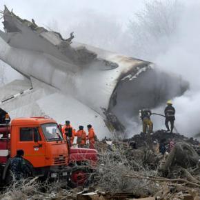 Kyrgyzstan: Cargo plane crash kills 37, destroysvillage