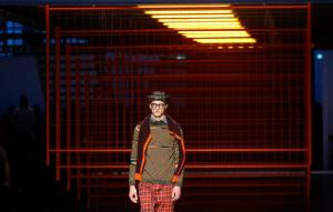 A model wears a creation for Missoni men's Fall-Winter 2017-2018 collection, part of the Milan Fashion Week, unveiled in Milan, Italy, Sunday, Jan. 15, 2017. (AP Photo/Antonio Calanni)