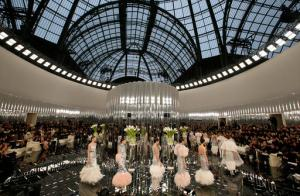 Models wear creations for Chanel's Haute Couture Spring-Summer 2017 fashion collection presented in Paris, Tuesday, Jan.24, 2017. (AP Photo/Francois Mori)
