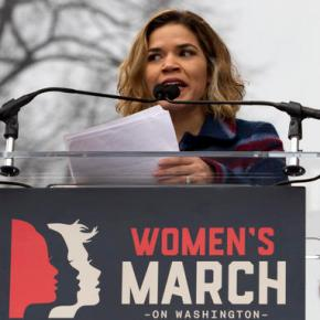 A-list celebs out in force for anti-Trump women'smarches