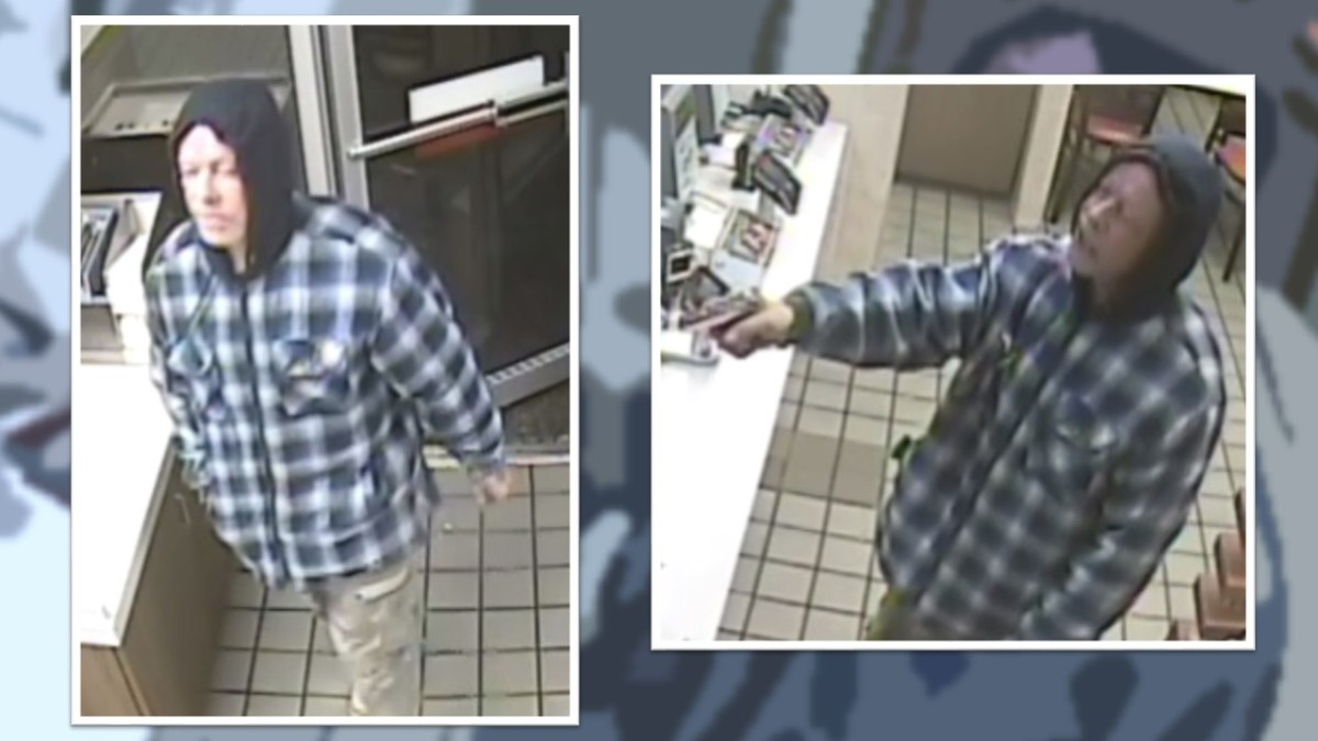 Man robs two businesses within 10 minutes of each other on Sunday