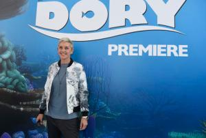 "FILE - In this June 8, 2016, file photo, Ellen DeGeneres arrives at the premiere of ""Finding Dory"" at the El Capitan Theatre in Los Angeles. DeGeneres used the plot of the film on her syndicated chat show Monday, Jan. 30, 2017, to illustrate her stance on President Donald Trump's recent executive order on immigration and refugees. (Photo by Chris Pizzello/Invision/AP, File)"