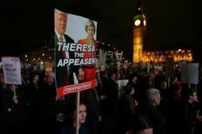 Amid protests, UK lawmakers to debate Trump visitinvitation