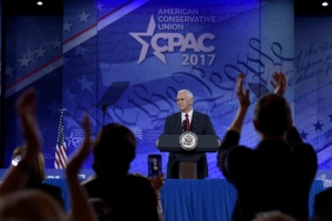 Vice President Mike Pence speaks at the Conservative Political Action Conference (CPAC) in Oxon Hill, Md., Thursday, Feb. 23, 2017. (AP Photo/Susan Walsh)