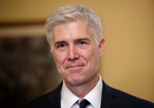 Supreme Court Justice nominee, Neil Gorsuch meets with Senate Majority Leader Mitch McConnell of Ky. on Capitol Hill in Washington, Wednesday, Feb. 1, 2017. Last year, Senate Republicans, led by McConnell, blocked a confirmation hearing for Judge Merrick Garland, President Barack Obama's pick for the vacancy left by the death of Justice Antonin Scalia who died in February 2016. (AP Photo/J. Scott Applewhite)