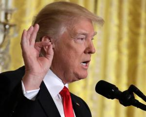 In this Feb. 16, 2017 photo, President Donald Trump speaks during a news conference, in the East Room of the White House in Washington.   Andrew Jackson's triumph over John Quincy Adams in 1828 bore striking similarities to Donald Trump's win over Hillary Clinton last year and the president's team has seized upon the parallels, equating Trump's message of disruptive economic populism with Jackson's pledge to represent the common man.   (AP Photo/Evan Vucci)