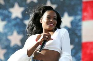 "FILE - In this April 10, 2015, file photo, Azealia Banks performs at the 2015 Coachella Music and Arts Festival in Indio, Calif. Banks called out the Barbados-born singer Rihanna after the singer tweeted on Jan. 28, 2017: ""Disgusted! The news is devastating! America is being ruined right before our eyes!"" The tweet was a response to President Donald Trump's order to temporarily suspend immigration from seven Muslim majority nations. (Photo by Rich Fury/Invision/AP, File)"