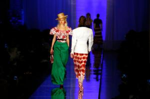 Models wear creations for Jean-Paul Gaultier's Haute Couture Spring-Summer 2017 fashion collection presented in Paris, Wednesday, Jan. 25, 2017. (AP Photo/Francois Mori)