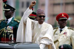 Hundreds of Nigerians protest corruption; Buhari illabroad