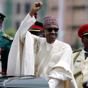 Hundreds of Nigerians protest corruption; Buhari ill abroad