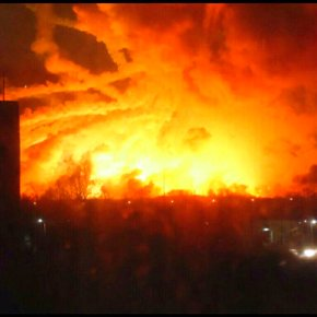 20,000 evacuated after fire at military arsenal inUkraine