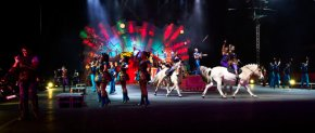 Ringling Bros. circus train strikes disabled tractor-trailer