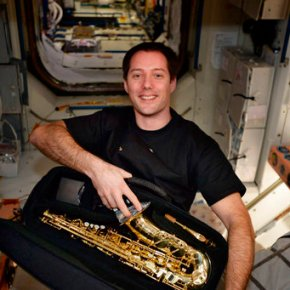 Sax in space: French astronaut delighted with birthday gift