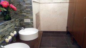 No dump here: Posh public bathroom pops up, with music,art