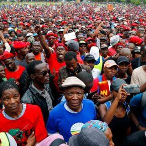 South African opposition protests Zuma, who celebrates75th