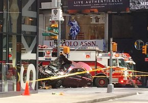 Car mows down Times Square pedestrians for blocks, killing 1