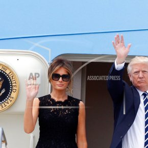 The Latest: President Trump arrives in Brussels