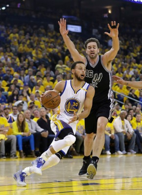 Warriors trounce Spurs without Leonard for 2-0 serieslead