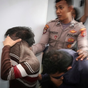 Shariah court in Indonesia sentences gay couple to caning