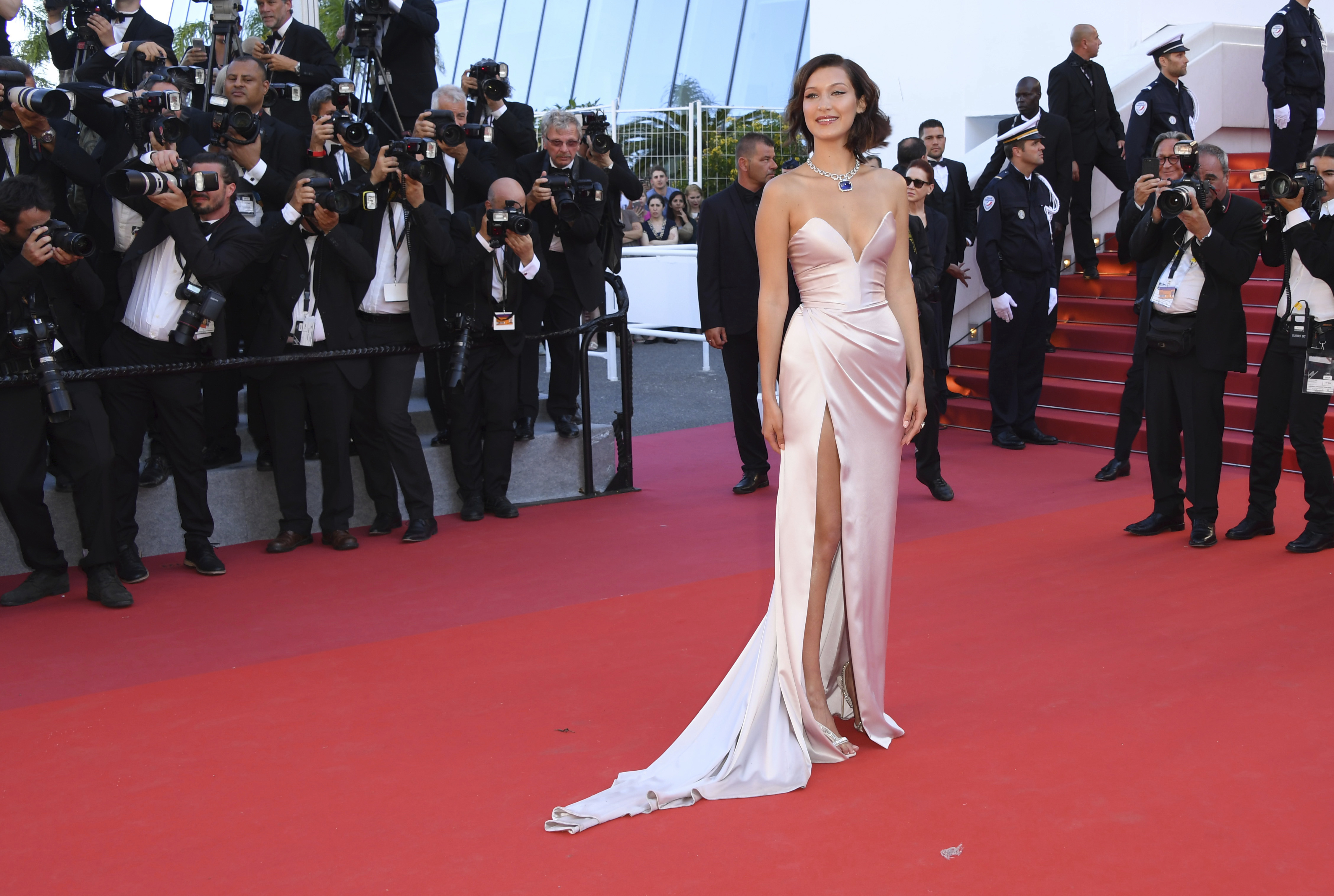 9a34569c678ac Oops! Bella Hadid suffers wardrobe malfunction at Cannes | Spartan Echo