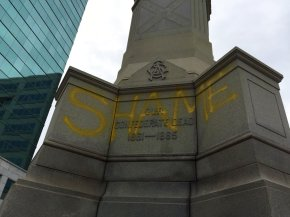 'Shame' spray-painted on Confederate monument inVirginia