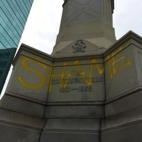 'Shame' spray-painted on Confederate monument in Virginia