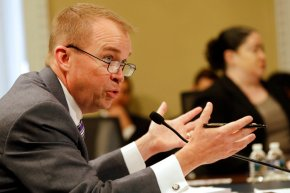 Mulvaney defends Trump budget's social safety netcuts