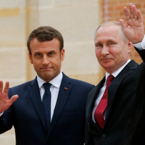 The Latest: Putin visits new Orthodox Church in Paris