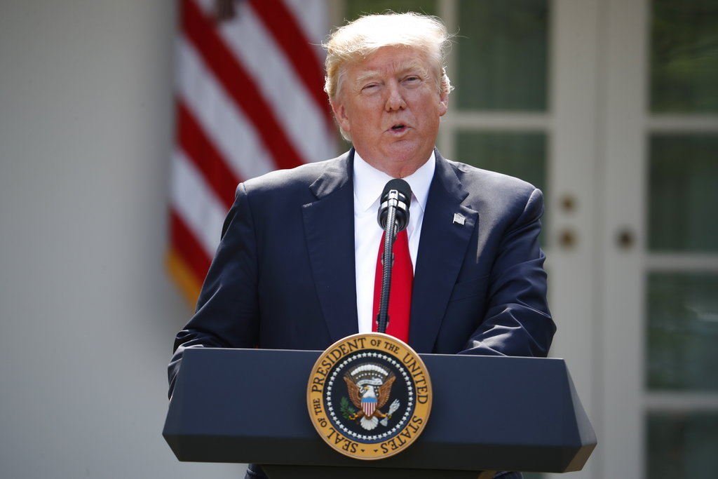 Trump says pulling out of Paris climate accord best for US