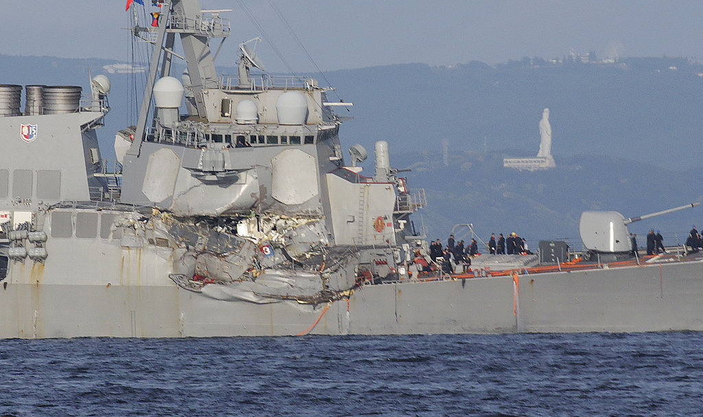 Missing USS Fitzgerald sailors found dead in flooded compartments