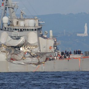 Mysterious ship crash off Japan leaves 7 US sailors missing