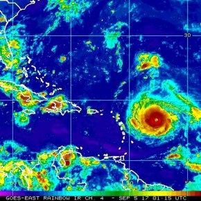 Irma strengthens into Category 5 hurricane, nearsCaribbean