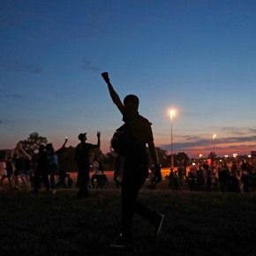 The Latest: Chief says 10 officers hurt in St. Louisprotest