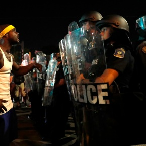 Protests resume after 80 arrests in St. Louis unrest