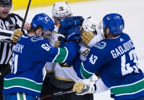 Golden Knights rout Canucks 9-4 in first preseasongame
