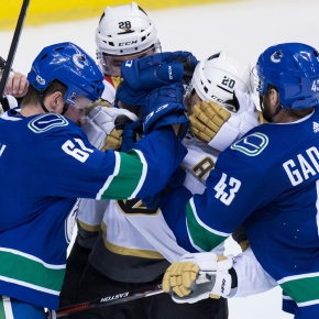 Golden Knights rout Canucks 9-4 in first preseason game