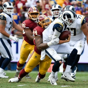 Redskins pound Rams on ground in 27-20 victory
