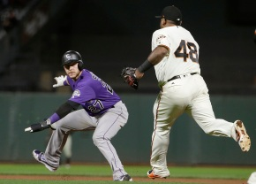 Contending Rockies lose early lead, fall to Giants4-3
