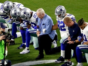 The Latest: Trump says protests will hurt NFLbusiness